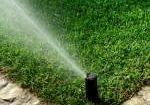 Automatic garden irrigation sprinkler system, watering lawn
